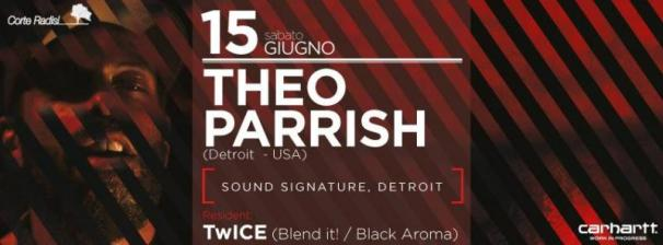 "Theo Parrish ""Detroit - Usa"" Saturday, June 15th, 2013 h 23.00 Roots Verona"