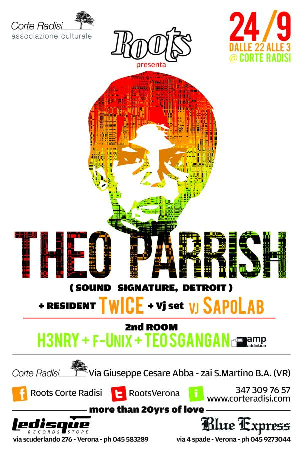 Saturday Sept. 24 > Roots presents THEO PARRISH