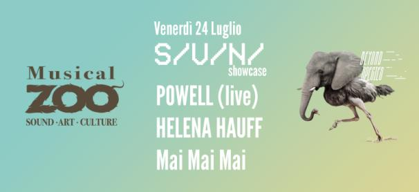 HELENA HAUFF + POWELL + Mai Mai Mai & more @ S/V/N/ showcase at Musical zoo Festival (Brescia). Friday, 24 July 2015