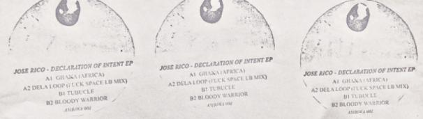 Le Disque Distribution presents JOSE RICO - DECLARATION OF INTENT EP (AMBIWA 1)