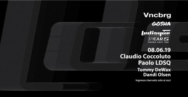 Le Disque Record Store 31th Birthday with Claudio Coccoluto & Friends - VNCBRG