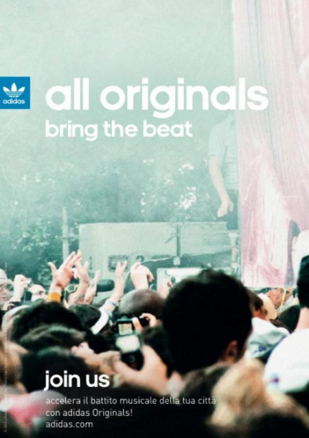 "ADIDAS          ""All Originals Bring The Beat"" Join Us"